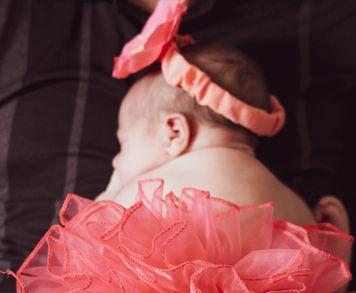 Bébé en tutu rose